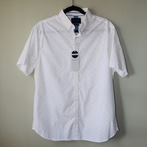 Denim & Flower Short Sleeved Button-Up